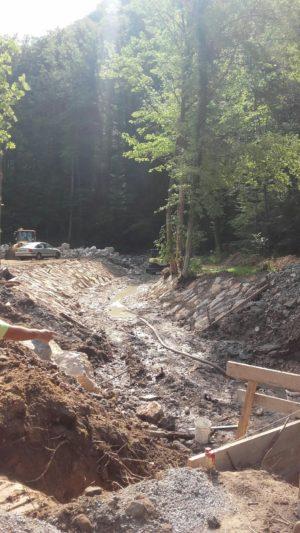 Sanacija brežine potoka Medija2